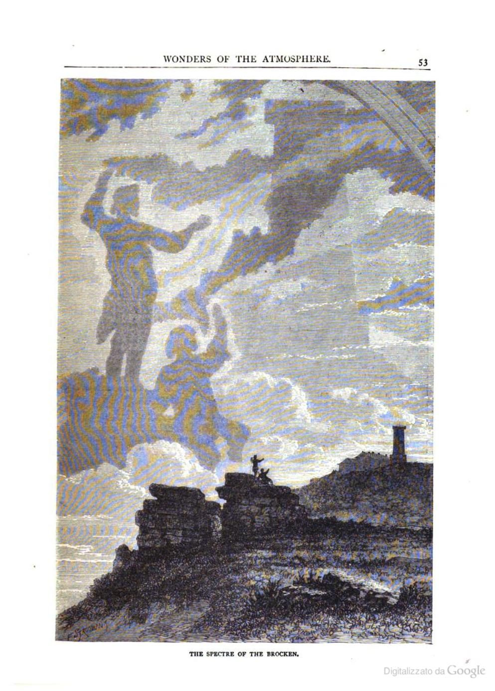 The spectre of the Brocken. From The world of wonders a