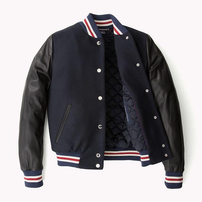 zeitloses Design langlebig im einsatz Qualität Tommy Hilfiger Varsity Jacket - midnight (Black) - Tommy ...