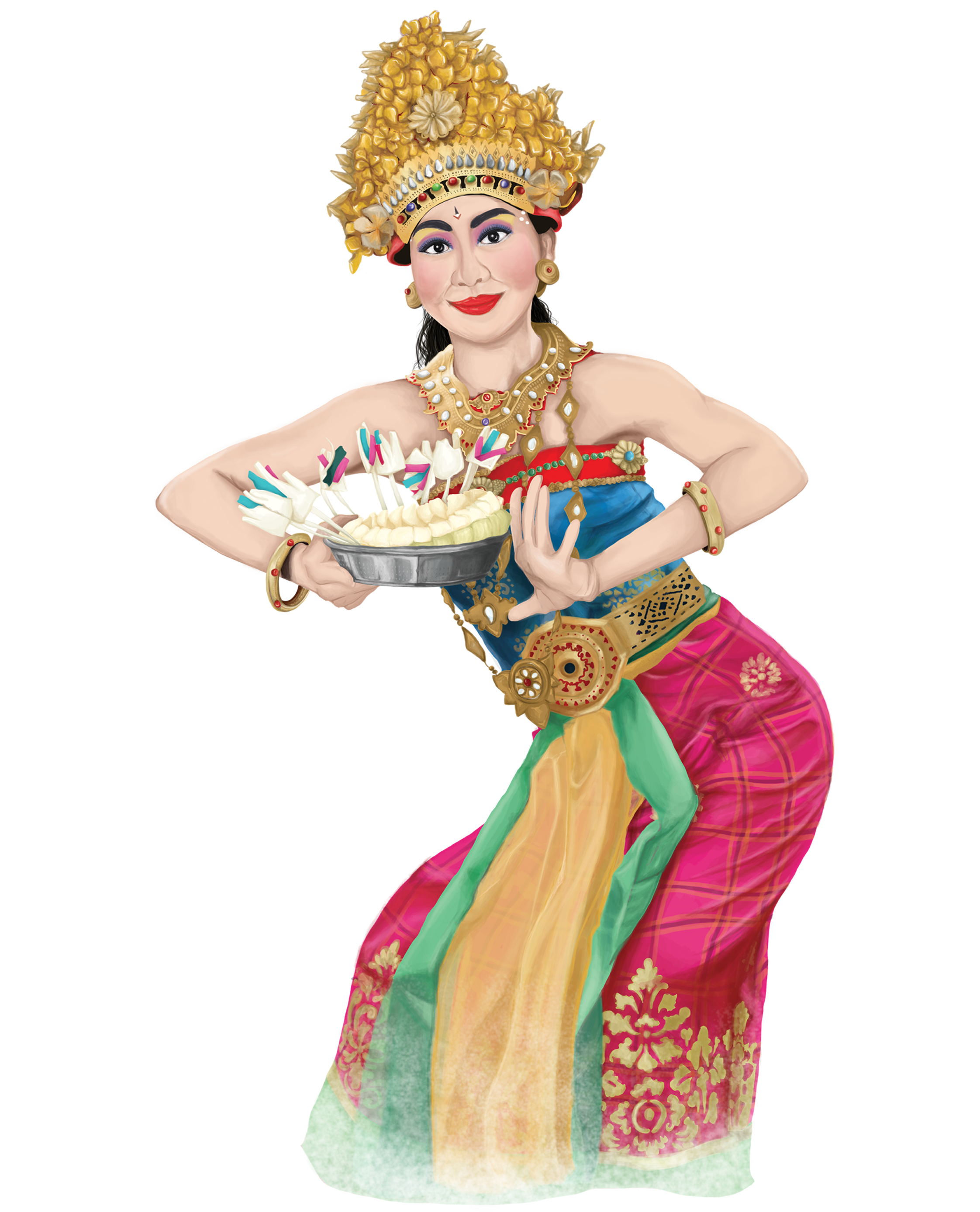 Digital Painting of Bali dancer, Indonesia. Proud to