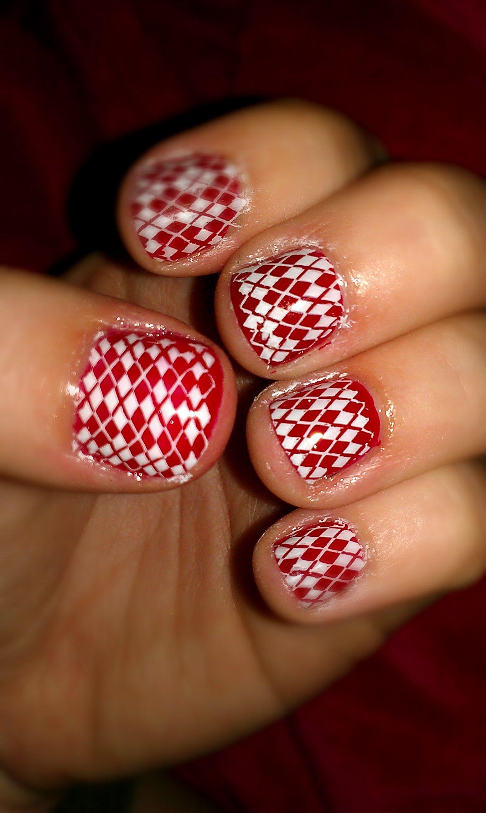 Christmas nails with konad stamper mani holiday nails nail art