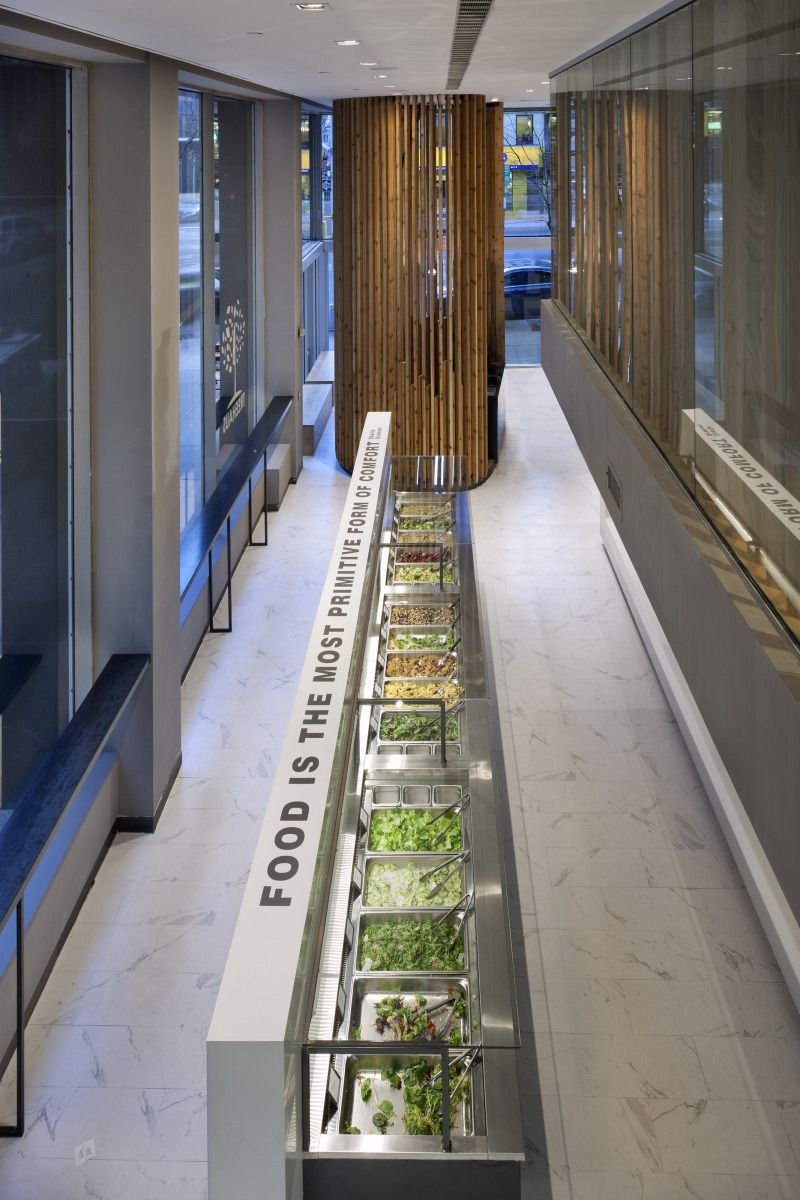 intriguing restaurant interior design with modern ideas healty food green vegetables treehaus by unspace interior - Marble Cafe Decoration