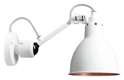 Applique N°304SW Blanc intérieur du diffuseur cuivre DCW