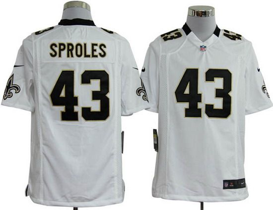 cacaecb267d ... Nike Saints 43 Darren Sproles White Mens NFL Game Jersey Nike Eagles ...