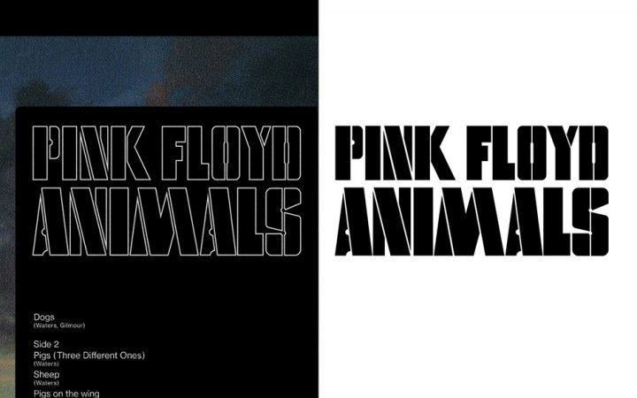 Pentagram S Stencilled New Visual Identity For Pink Floyd Records Pink Floyd Pink Floyd Albums Visual Identity