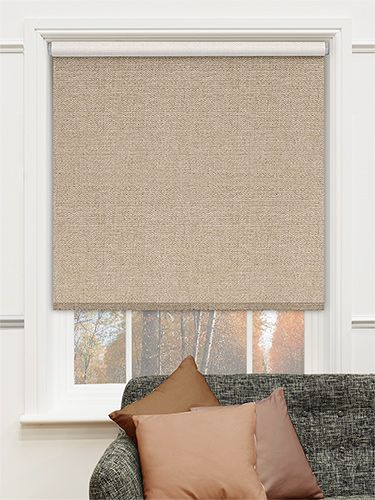 Thermal Luxe Blackout Bisque Energy Saving Roller Blind