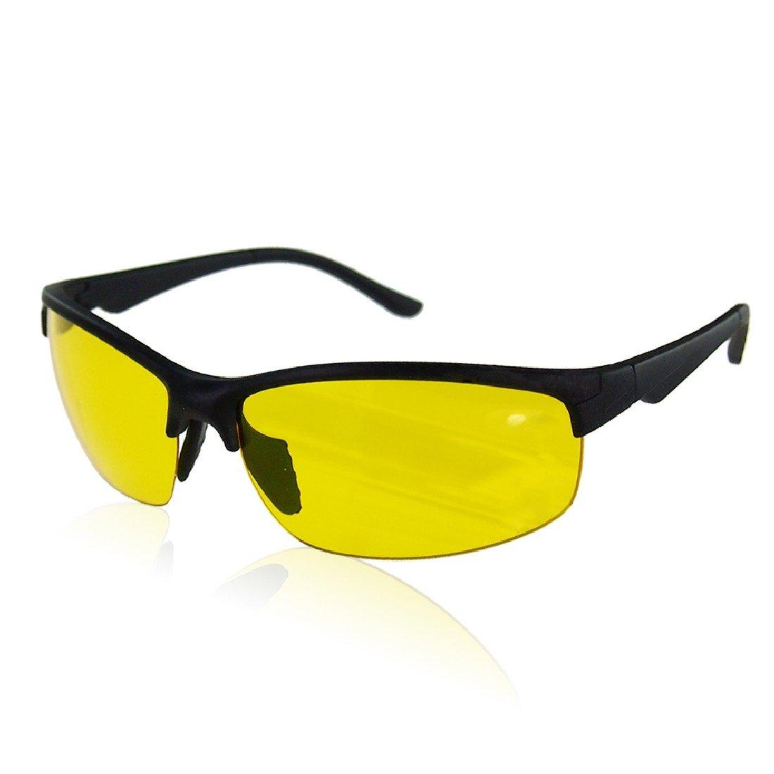 de64d6972a81 High Definition Night Vision Glasses Driving Sunglasses Yellow Lens Classic  UV400 Unisex Fishing Eyewear