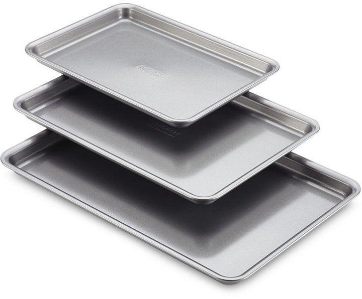 Anolon 3 Pc Silver Cookie Pan Set Bakeware Pan Set Silicone