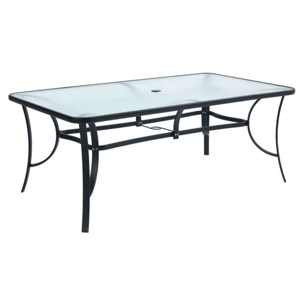 Amazing Del Terra Steel Glass Outdoor Table 179x99cm   Masters Home Improvement