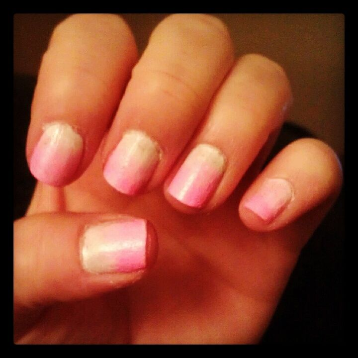 Ombre nails...I did these all by myself!!