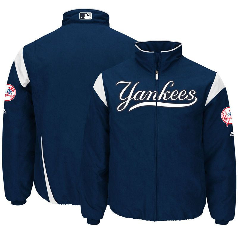 New York Yankees Majestic On Field Therma Base Thermal Full Zip Jacket Navy New York Yankees Yankees Jackets