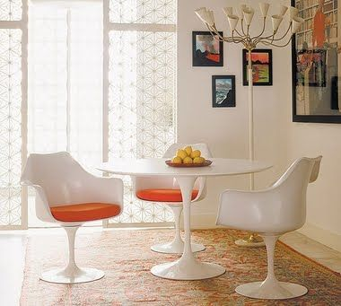 KnollR Saarinen And Tulip Dining Set Table Tulipa Arm Chairs