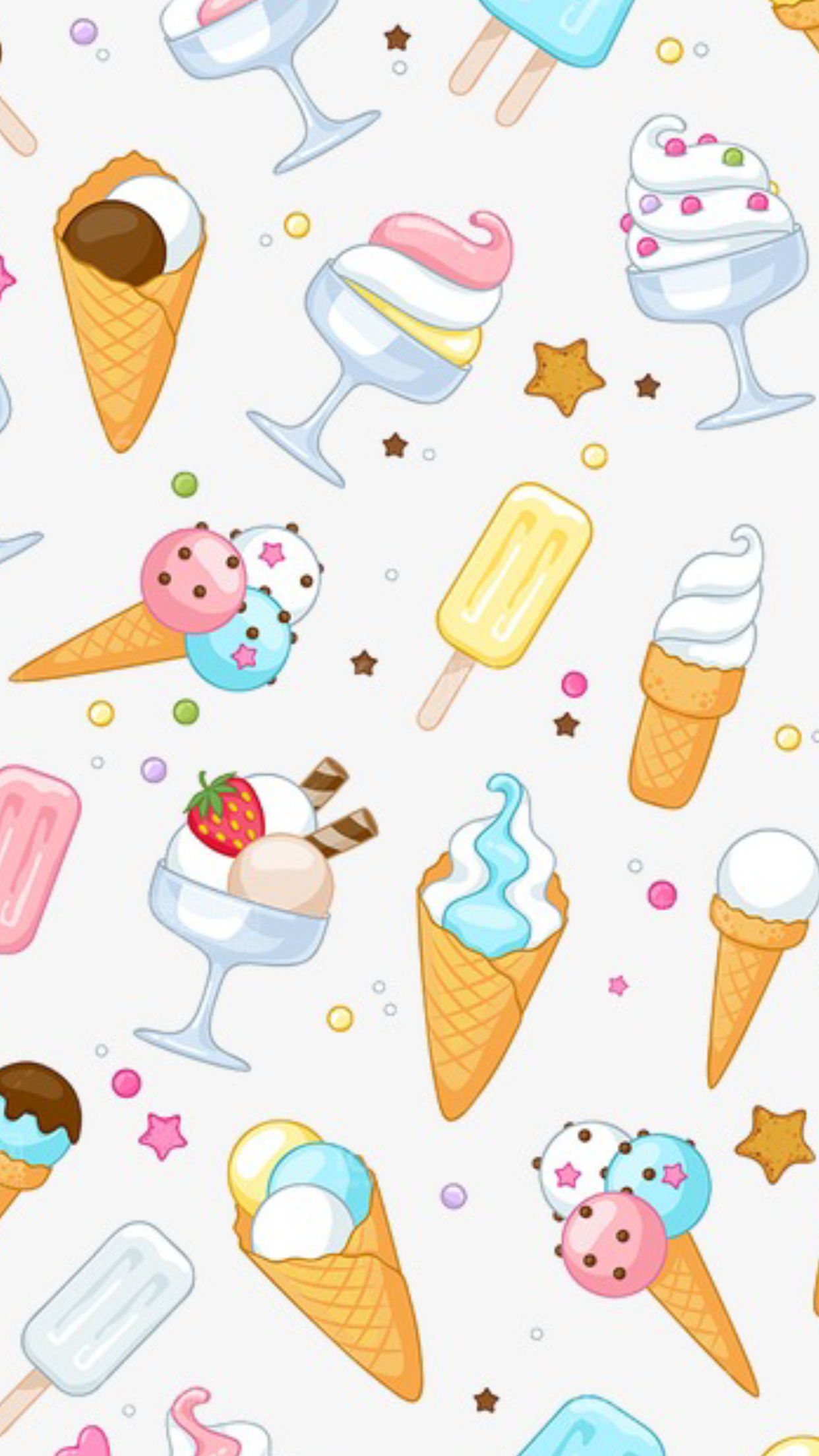 I Love Ice Cream And About You Unicorn Wallpaper Cute Cute Cartoon Wallpapers Cute Wallpapers