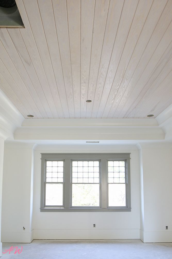 They Nailed It Or Maybe Stained Wood Plank Ceiling Wood Walls