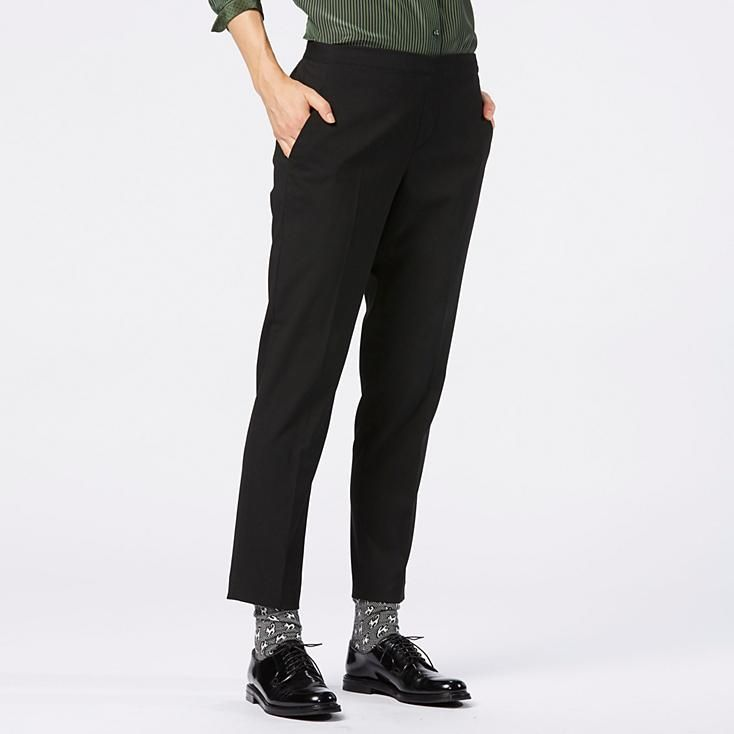 7503562889 WOMEN ANKLE LENGTH PANTS | UNIQLO; The whole thing. Top, pants, socks and  oxfords. Yes.