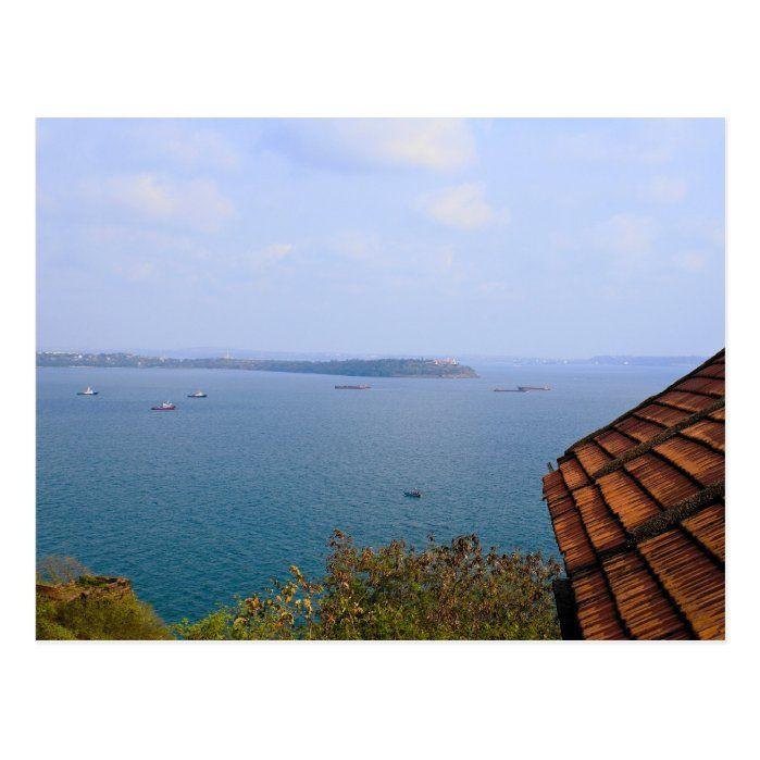 Panoramic view of Arabian Sea from Aguada Fort,near Panjim, Goa,India.