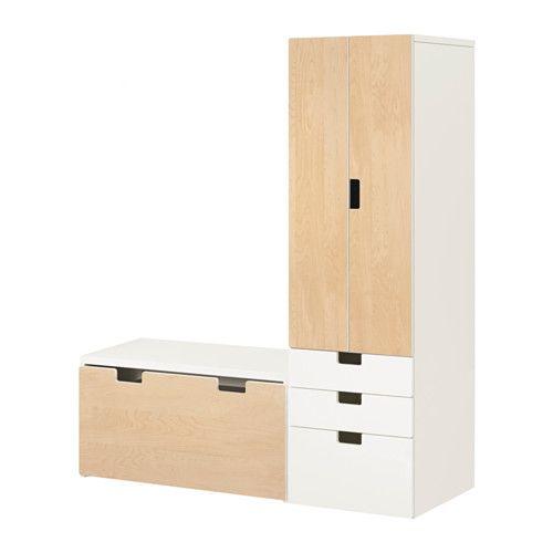 ikea stuva banc avec rangement blanc bouleau profondeur suffisante pour recevoir des. Black Bedroom Furniture Sets. Home Design Ideas