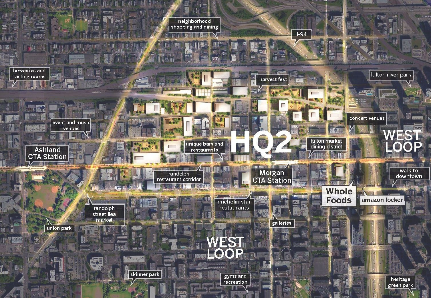 24 story mixed use complex pitched for full block West