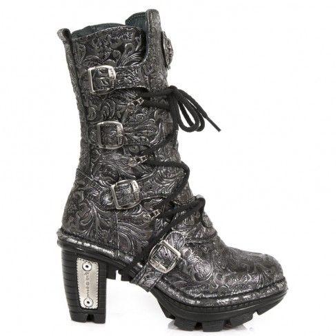 NEW ROCK Damen Stiefel Boots gothic schwarz M.NEOTR005-S8