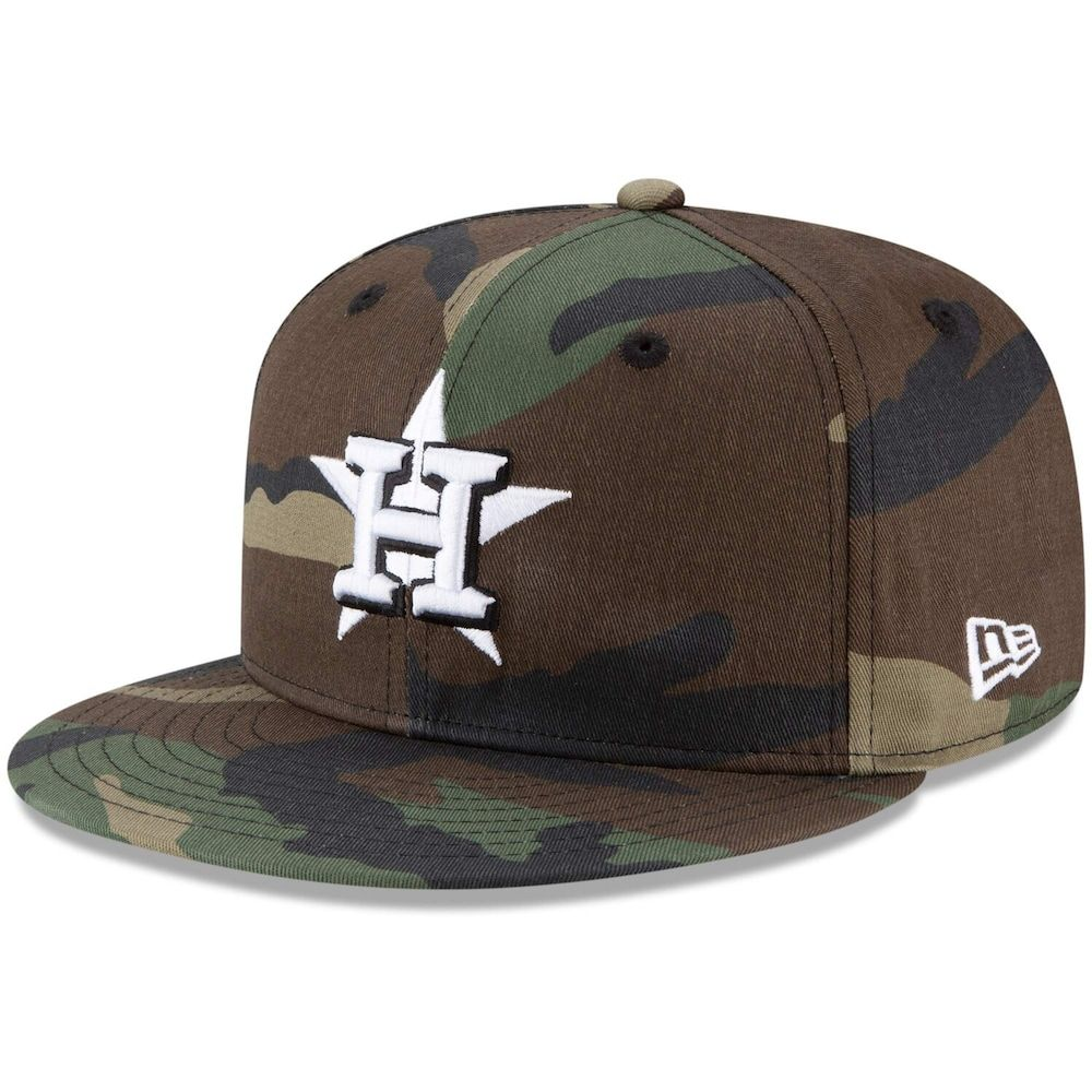 wholesale outlet new cheap best quality Men's New Era Camo Houston Astros Basic 9FIFTY Snapback Hat in ...