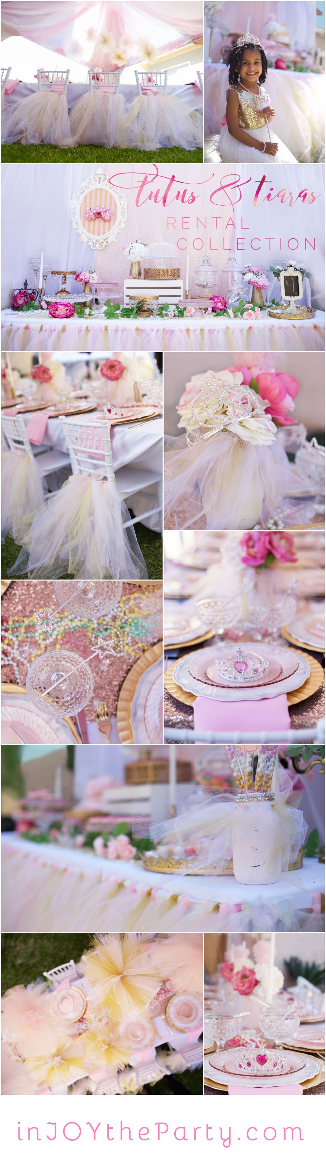 A Princess Party rental collection with an ensemble of ...