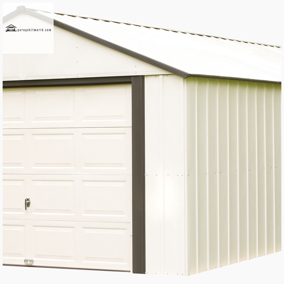 Murryhill 12 X 10 Ft Steel Storage Shed Coffee Almond Garage Garagekits Carports Homeimprovement Steel Storage Sheds Carport Designs Garage Door Styles