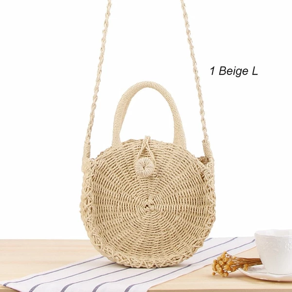 Summer Fashion Vintage Wicker Rattan Woven Handbags Beach Retro Straw Totes Bags