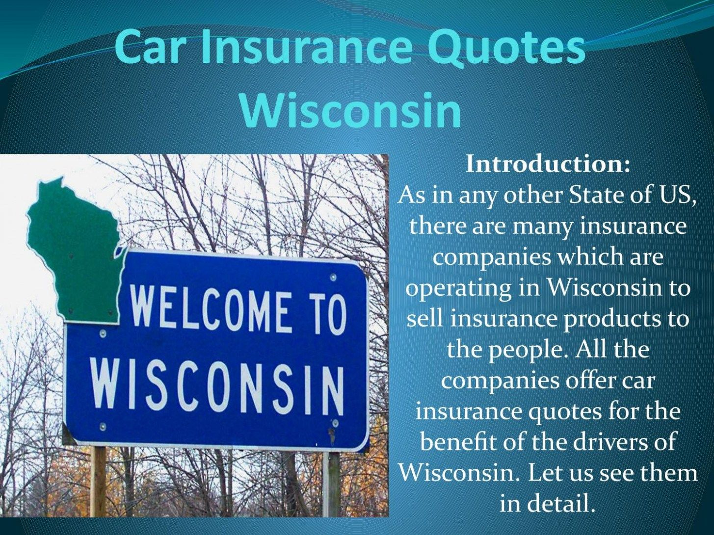 I Will Tell You The Truth About Auto Insurance Quotes Wisconsin In