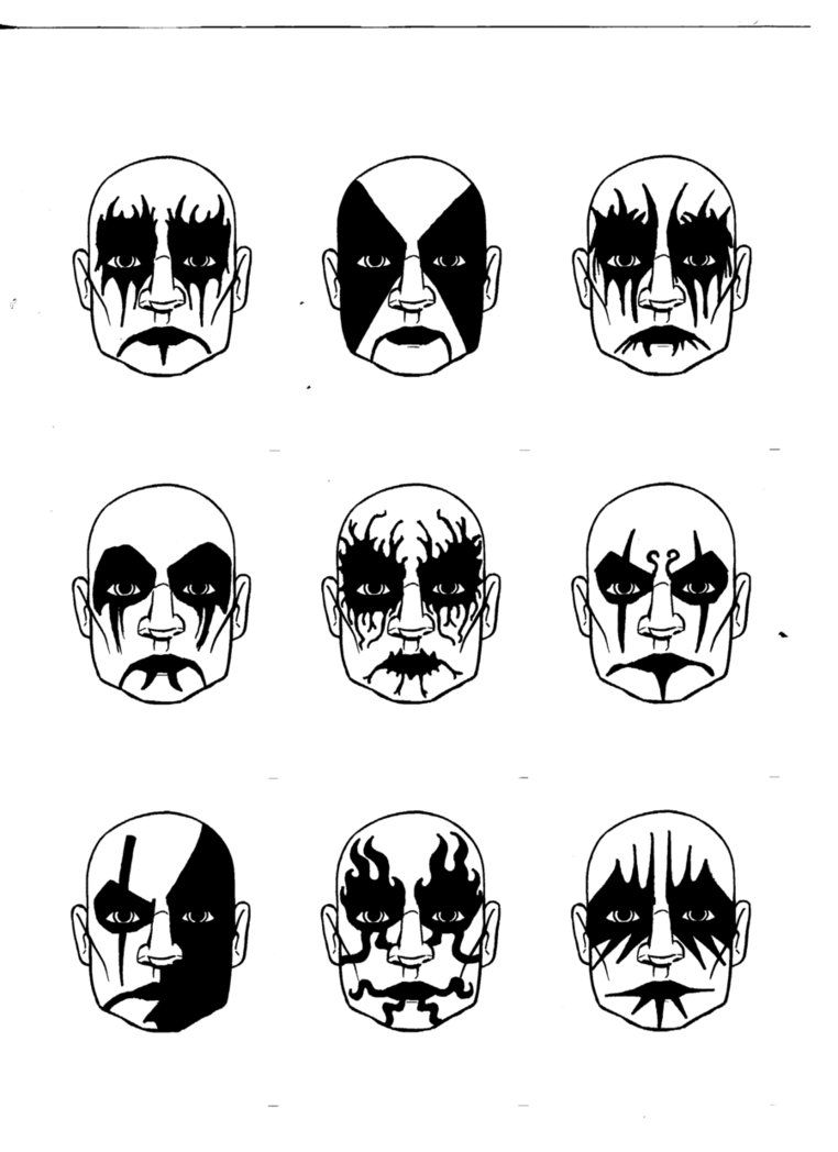 Corpse Paint Heavy Metal Art Metal Drawing Skull Face Paint