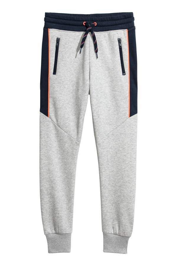 eb46559aa H&M H & M - Joggers - Light gray melange/dark blue - Kids | garment ...