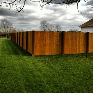 How We Put Up Our Diy Exposed Post Privacy Fence Backyard Fences