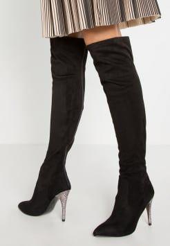 Nina Shoes - ROCKLIN - Korolliset saappaat - black