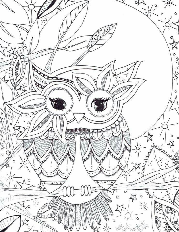Resource image inside printable owl coloring pages for adults