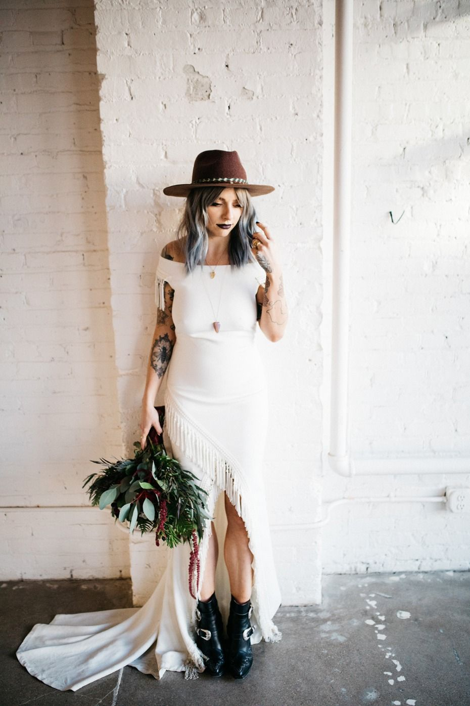 Now This Is How To Have An Edgy Glam Wedding Boho Wedding Shoes Wedding Shoes Boots Edgy Bridal