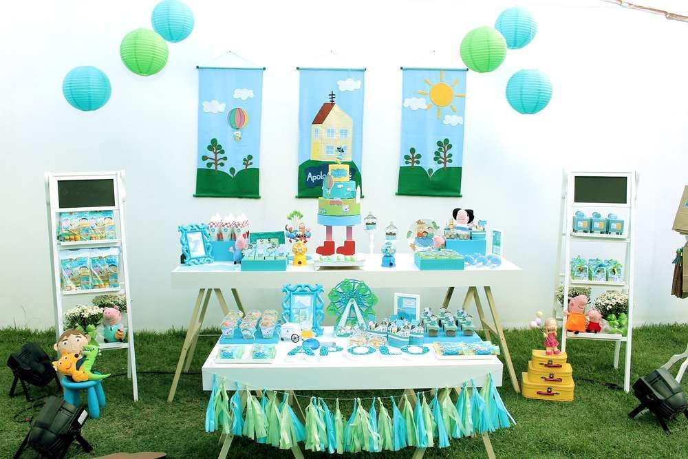 Fantastic George Pig Birthday Party Dessert Table See More