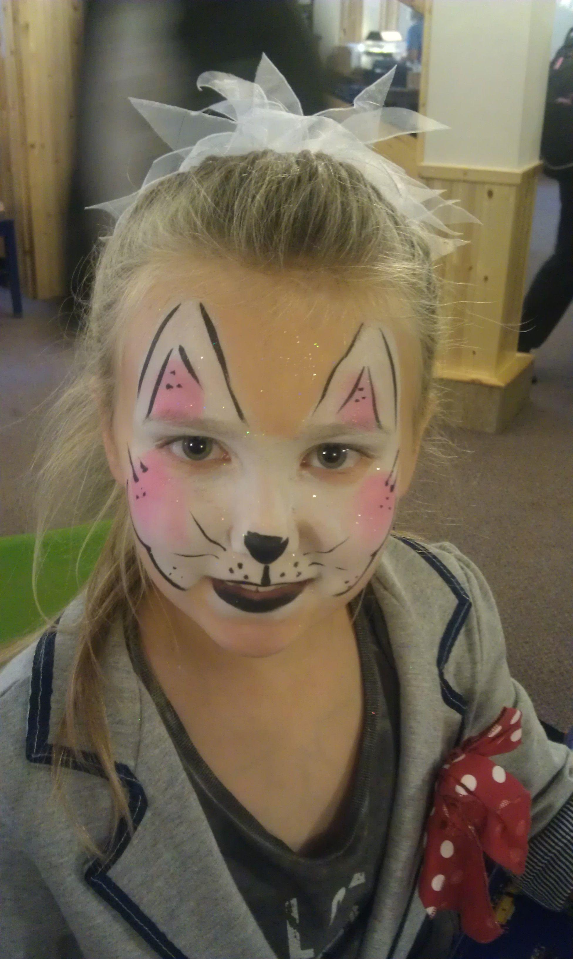 Bunny rabbit face paint face painting balloon painting