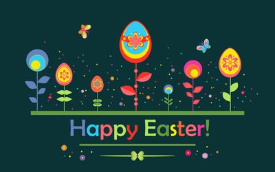 Happy Easter Holiday Desktop Wallpaper, Butterfly Wallpaper, Egg Wallpaper,  Floral Wallpaper, Easter Wallpaper   Holidays No.