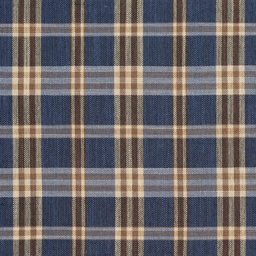 Indigo Tartan Beige And Brown Plaid Tweed Drapery And Upholstery