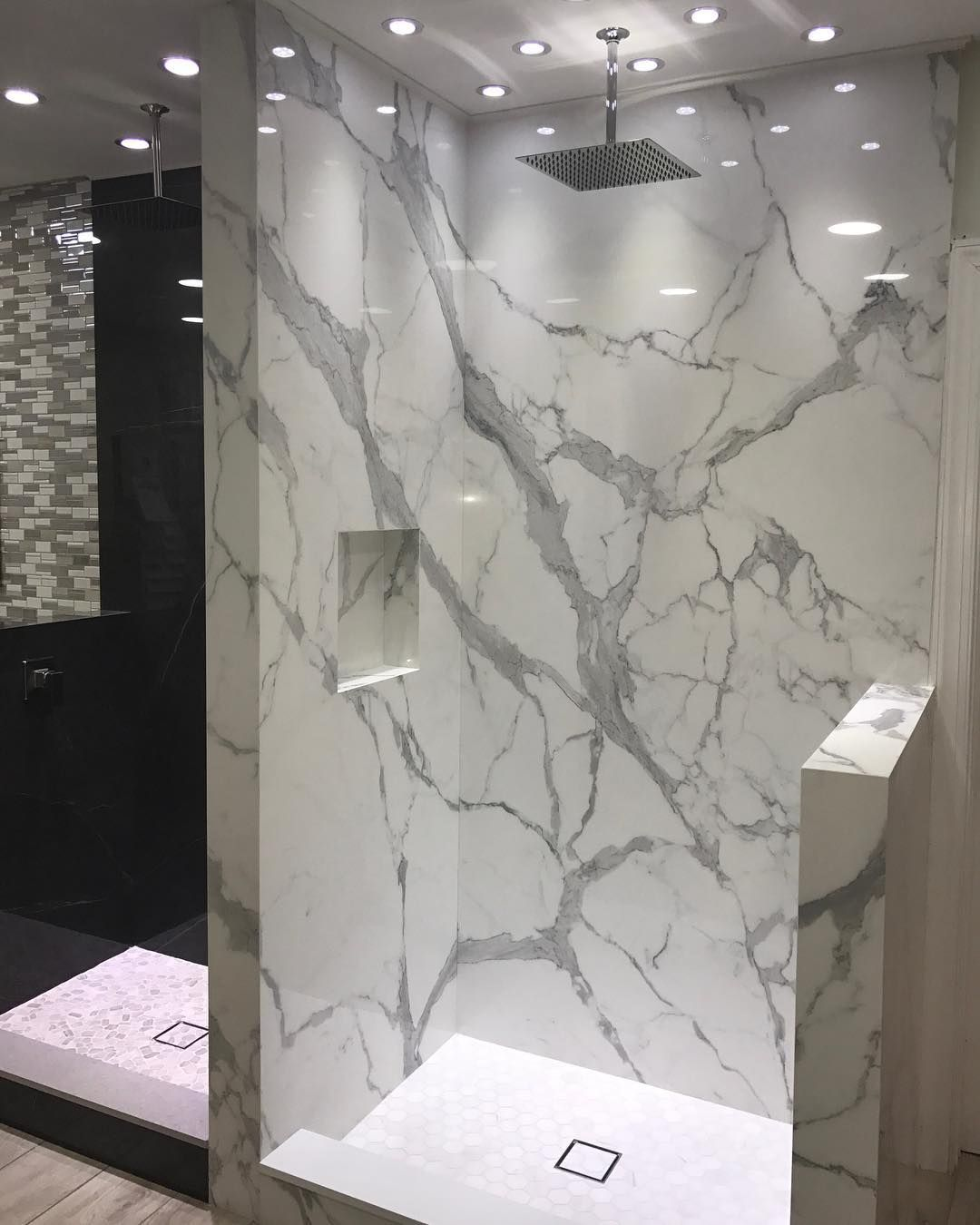 Atrium Design On Instagram Porcelain Slab On Shower Walls No