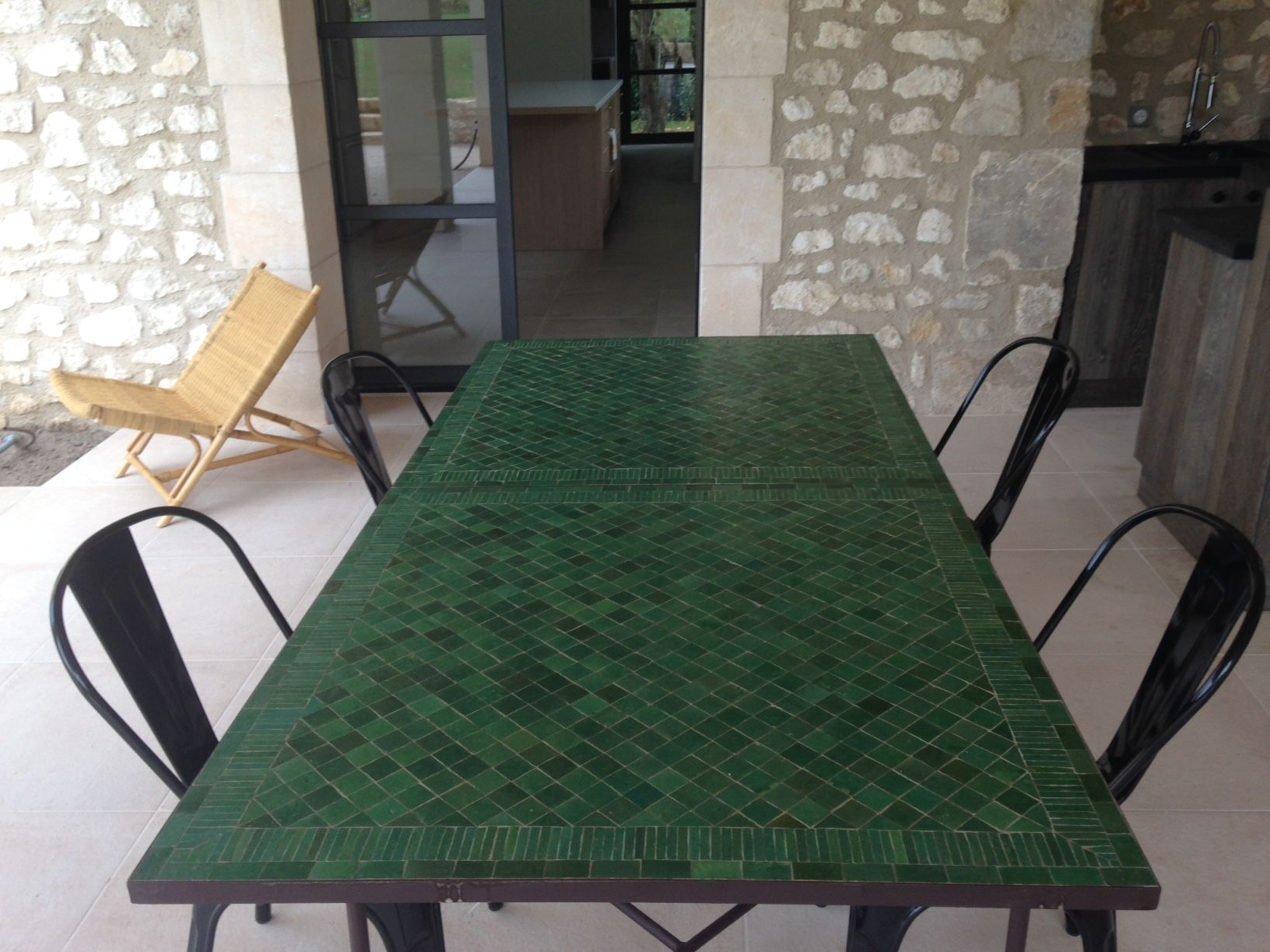 Table Zellige Motif Raye V4 Art Et Sud Deco En 2020 Table
