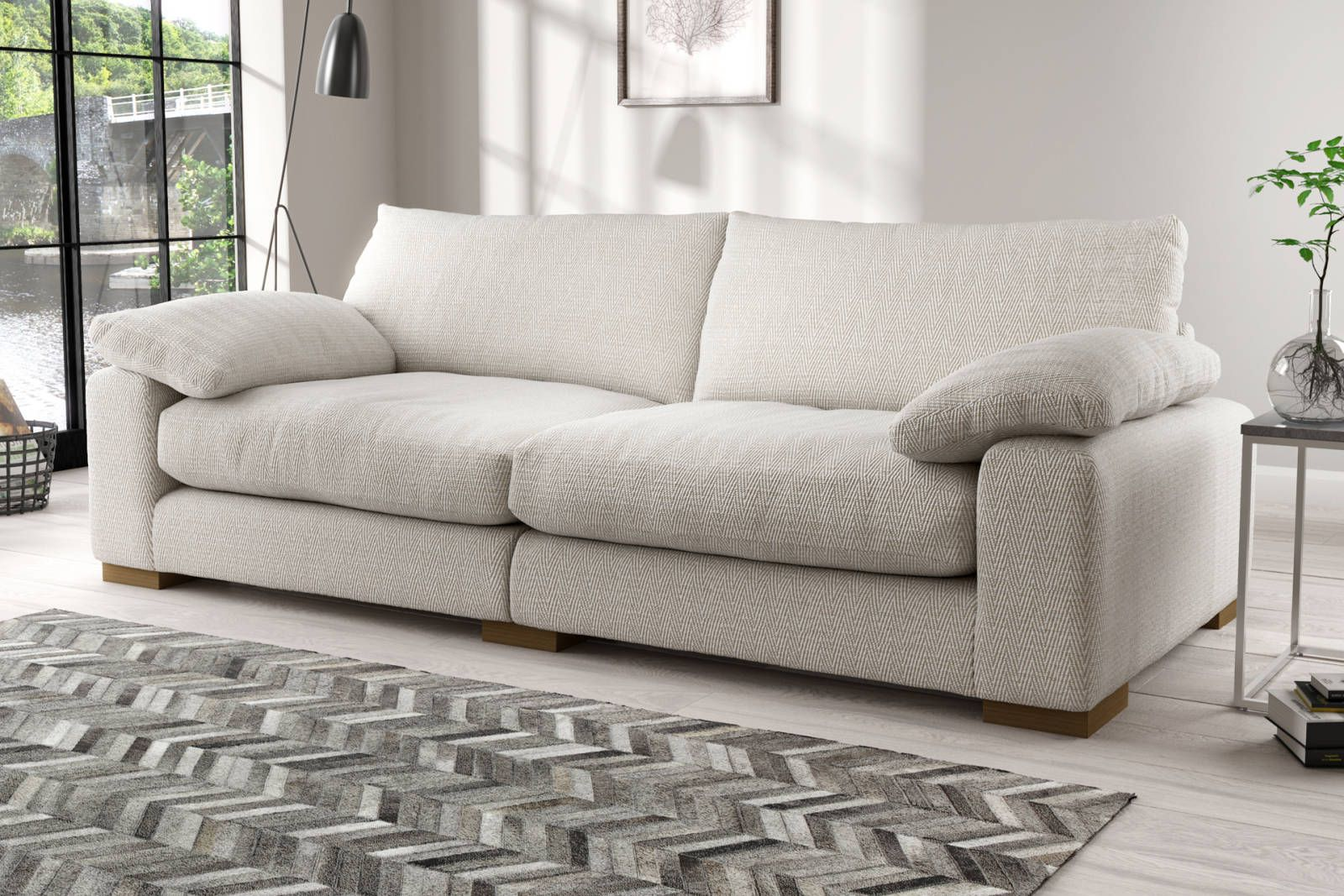 Coco Sofology 800 Ish Living Room Grey Fabric Sofa Lounge Suites