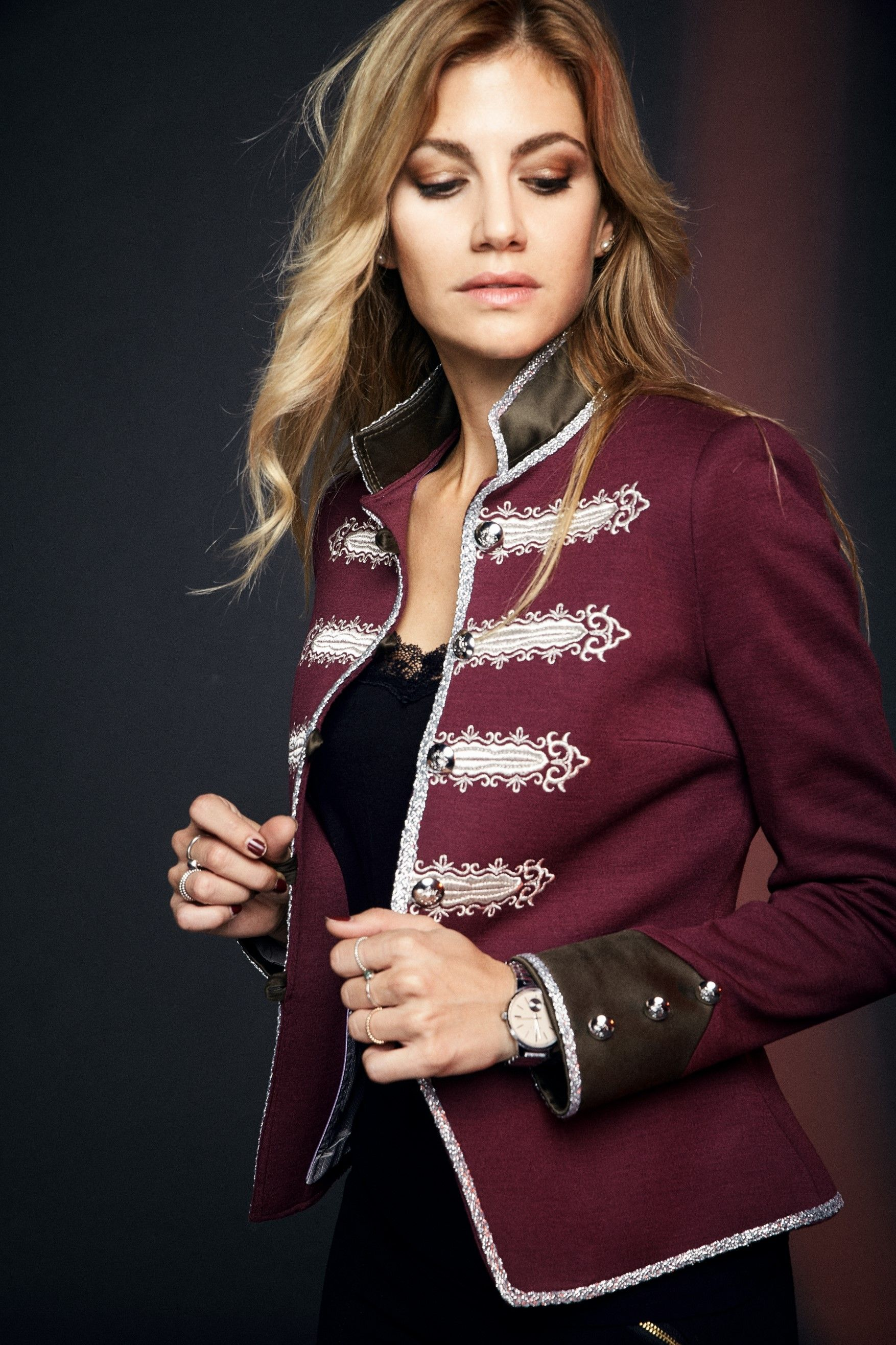 womens military style jacket by THE EXTREME COLLECTION www
