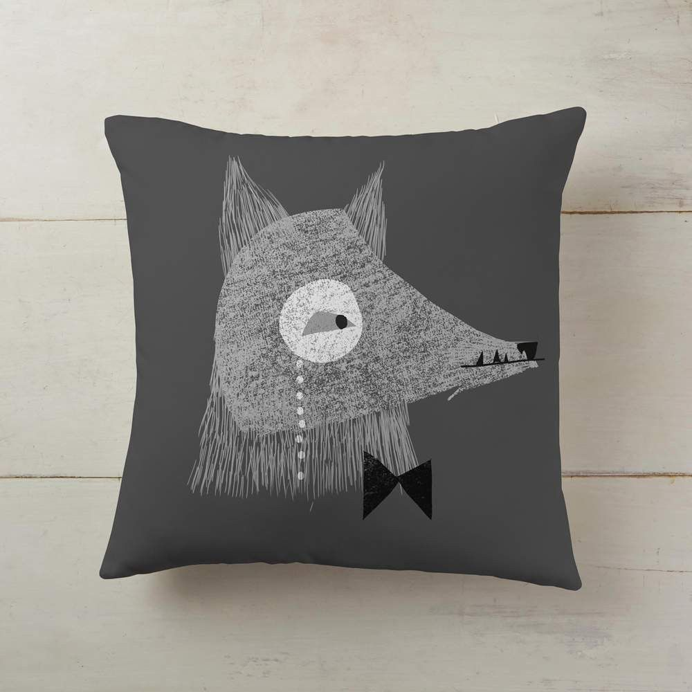 Serious wolf wearing monocle products pinterest products