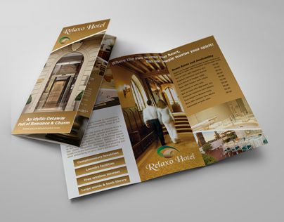 Check Out This Behance Project Hotel And Motel TriFold Brochure