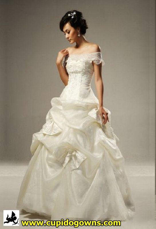 Beaded Off Shoulder Wedding Gown | Wedding Dress Singapore | Ideas ...