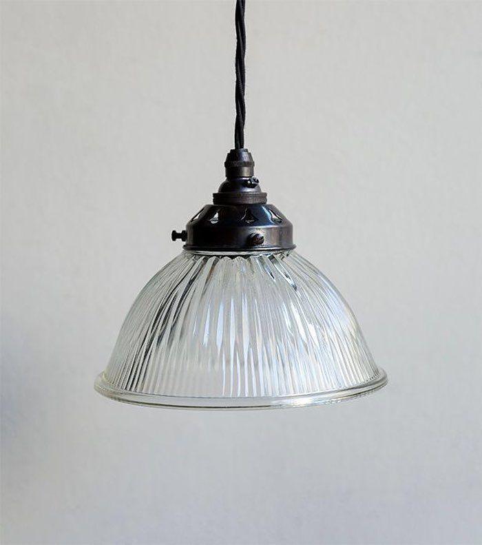 Original Holophane Gl Pendant Light English C 1930