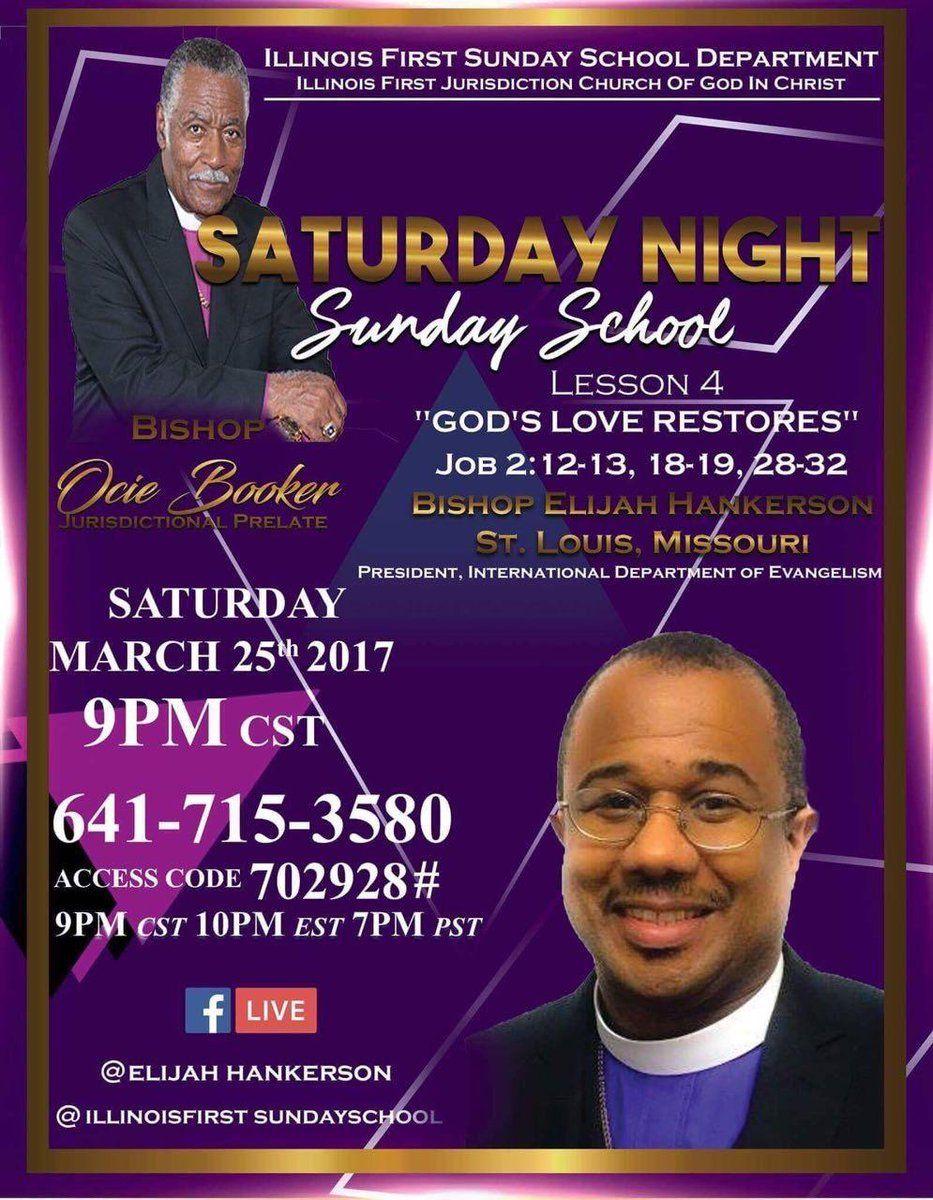 Illinois 1st COGIC Sunday School Department | Saturday Night Sunday