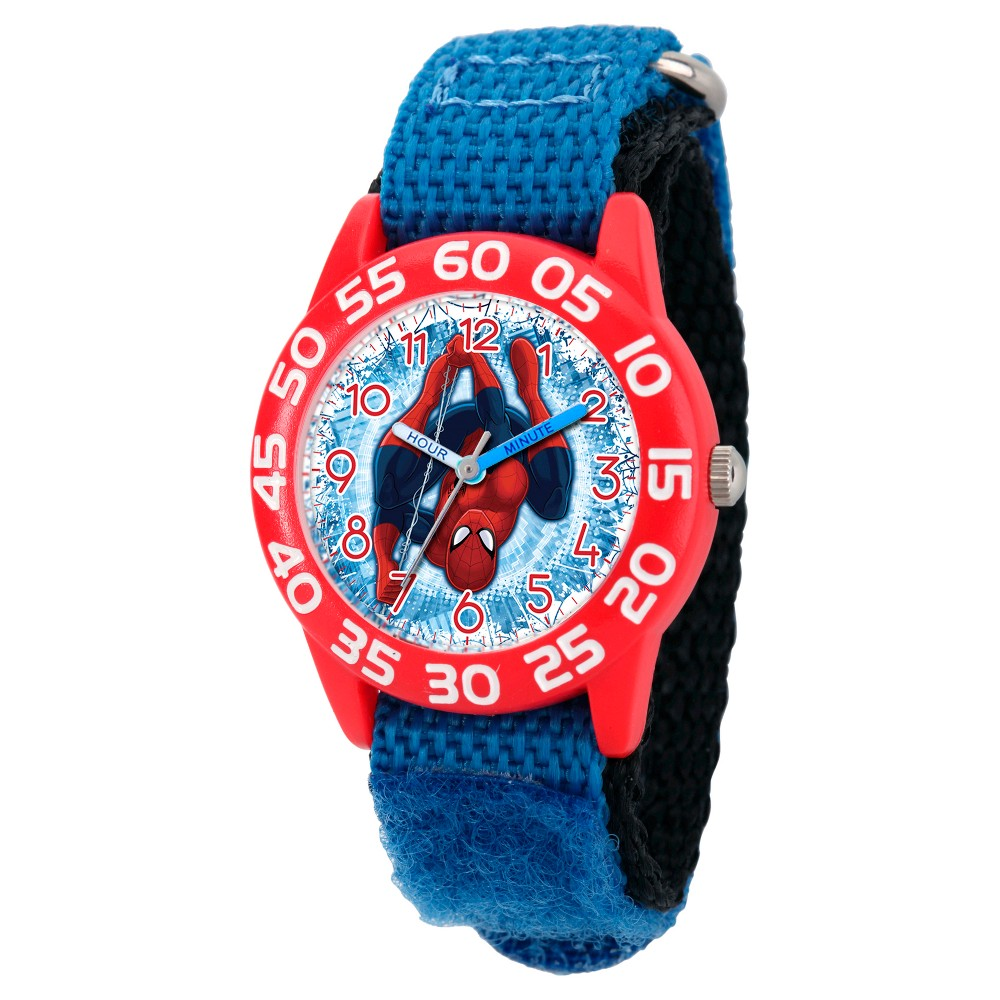 2c9c76b1a Boys  Marvel s Ultimate Spider-Man Red Plastic Time Teacher Watch - Blue