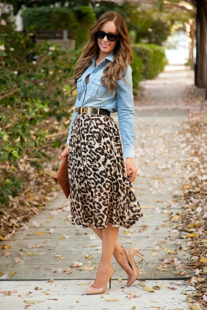 Style Sessions Fashion Link Up: Leopard and Chambray