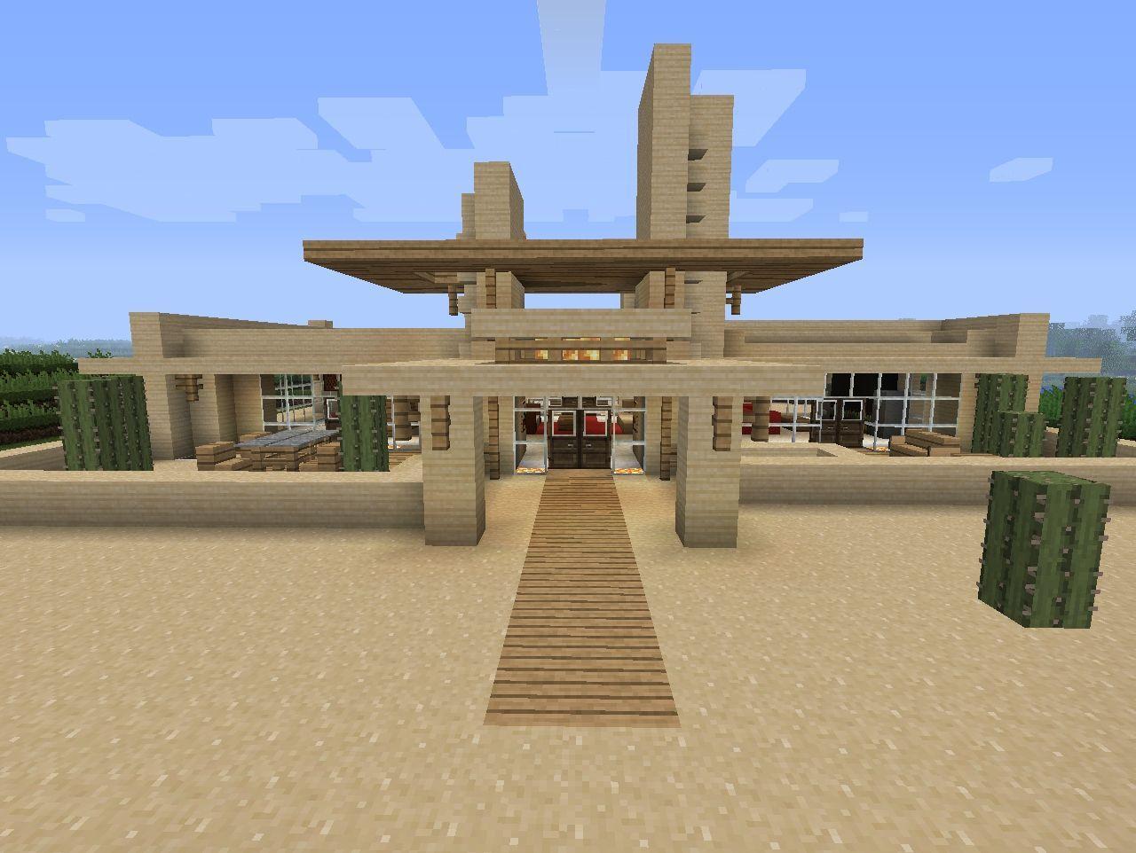 Modern Desert Home Minecraft Project Minecraft Pinterest
