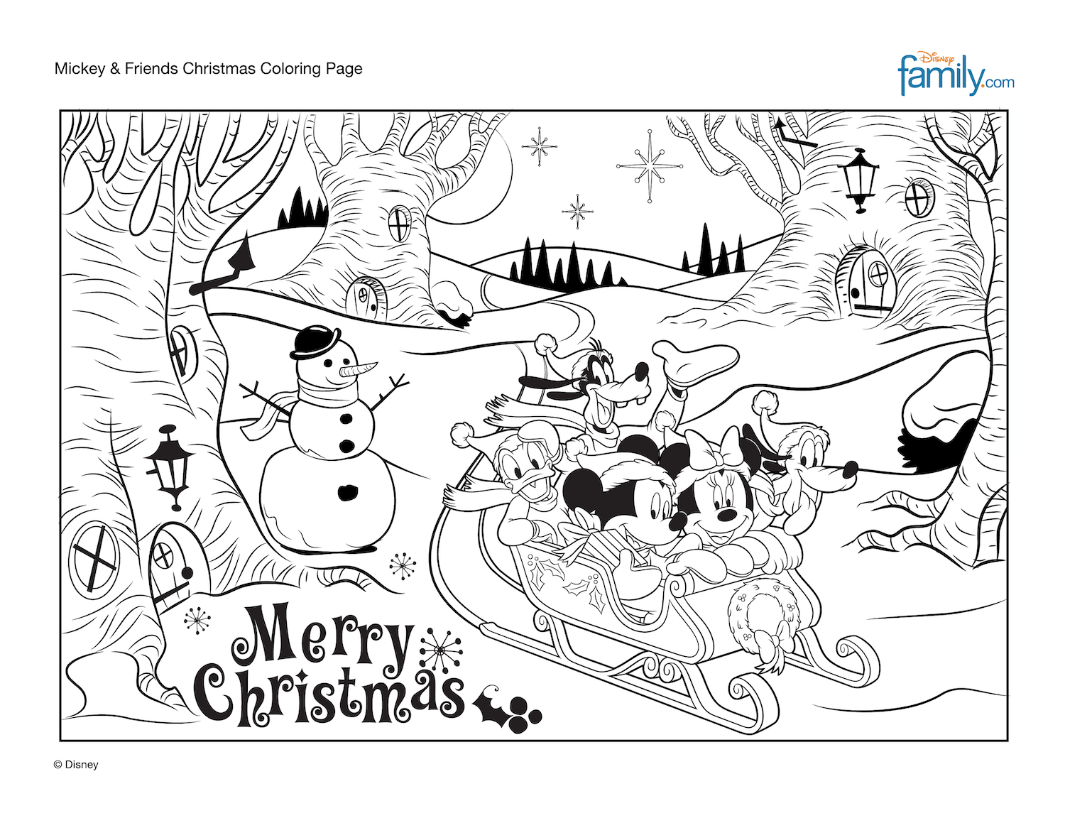 Merry Christmas Add Some Disney Magic To The Holidays With This Mickey Friends Chris Christmas Coloring Pages Christmas Colors Kids Christmas Coloring Pages